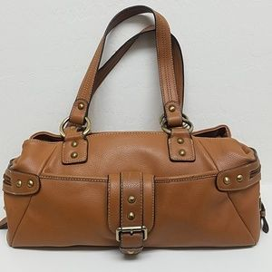 Small leather brown bag